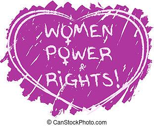 symbol, magt, kvinder
