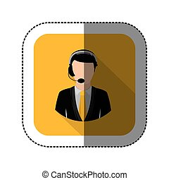 symbol man call center icon