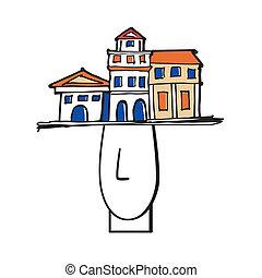 Marble head - Symbol Marble head