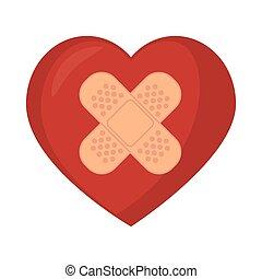 symbol medical heart plaster