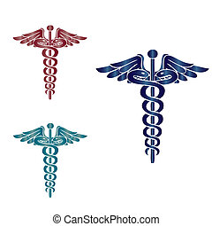 symbol, medizin, caduceus