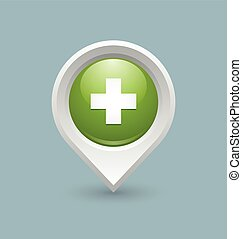 symbol, medizin, kreuz