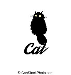 Symbol of a black cat