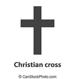 Symbol of a church cross. Christianity religion symbol