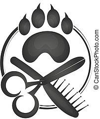 Symbol of a hairdresser for animals