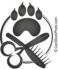 Symbol of a hairdresser for animals