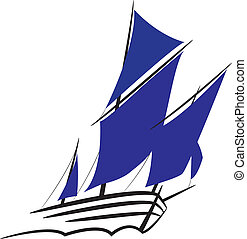 Symbol of a sailing ship