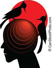 Symbol of a strong headache in a vector
