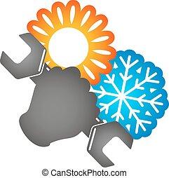 Symbol of air conditioning repair