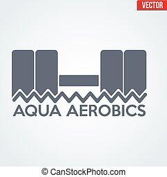 Symbol of Aqua Aerobics
