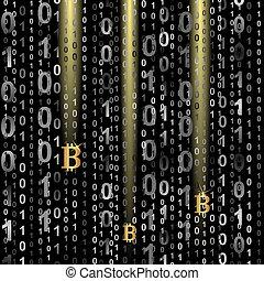 symbol of bitcoin on digital background