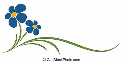 Symbol of blue flower.