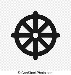 Dharmachakra / Wheel of Dharma - a symbol of Buddhism. Vector illustration
