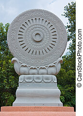 symbol of buddhism, the wheel of the law