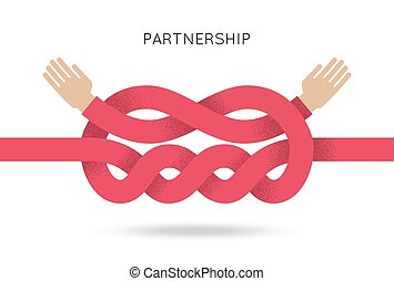 Symbol of business cooperation and partnership