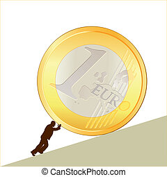 Symbol of business with EURO coin