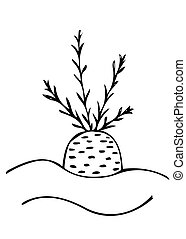 Symbol of carrot isolated on the white background