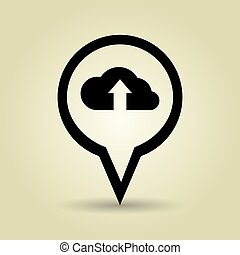 symbol of cloud isolated icon design