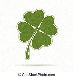 Symbol of clover with four petals