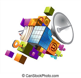Symbol of communication technologies