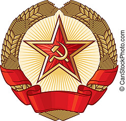 A symbol of communism , wreath of wheat and star)