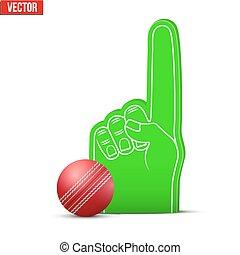 Cricket Sports Fan Foam Fingers and ball