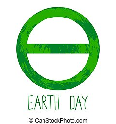 Symbol of Earth Day is the Greek letter of theta