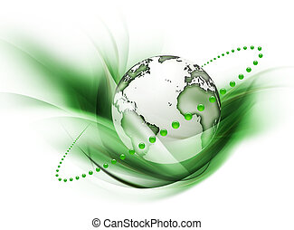 symbol of environmental protection isolated on a white background