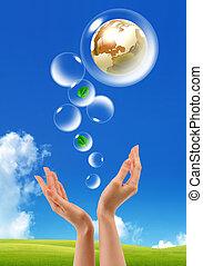 Symbol of environmental protection - Symbol of environmental...