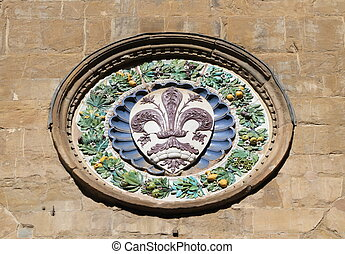 symbol of Florence - The coat of arms of Florence in pottery...
