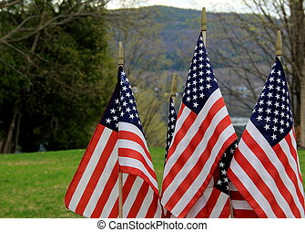 Symbol of freedom in flags