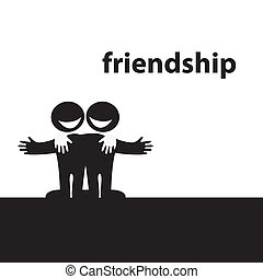 friendship - Symbol of friendship. Best friends. Vector...