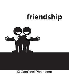 friendship - Symbol of friendship. Best friends. Vector...