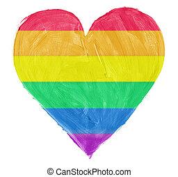 Symbol of gay,lesbian love