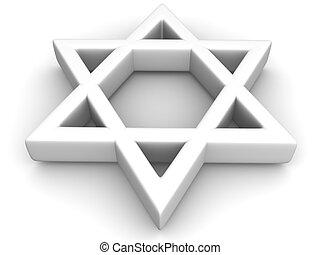 Symbol of Israel. 3d