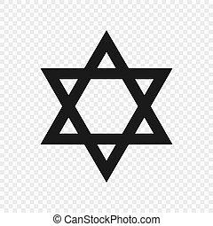 symbol of judaism isolated
