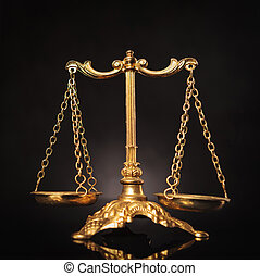 Symbol of justice, law scales