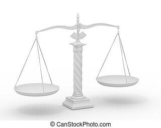 Symbol of justice. Scale