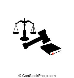 Symbol of law and justice. Concept law and justice. stock illustration
