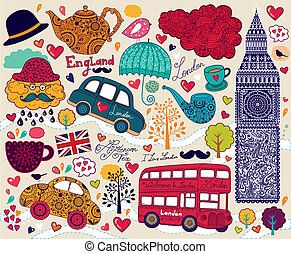 Vector set of London's symbols