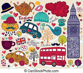 Symbol of London - Vector set of London's symbols
