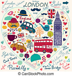 Symbol of London - Vector set of London's symbols