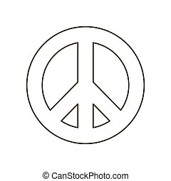 symbol of love and peace isolated icon