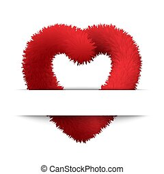 Symbol of love. - Vector abstract background with fluffy and...