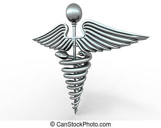 Symbol of medicine. 3d