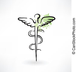 symbol of medicine grunge icon