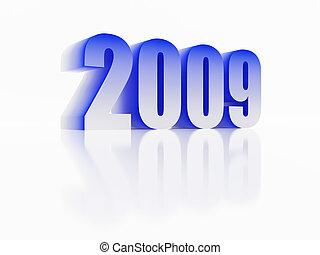 Symbol of new 2009 year