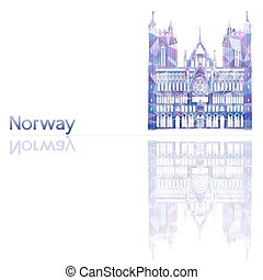 symbol of Norway, vector illustration