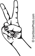 Symbol of peace - Hand gesturing symbol of peace