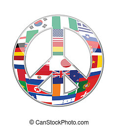 Symbol of peace illustration design over white